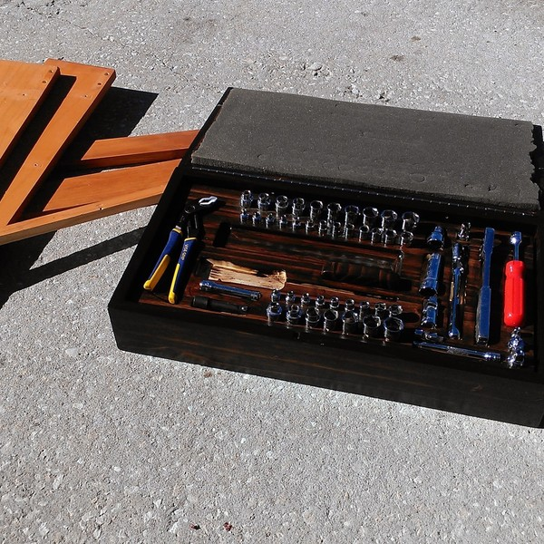 Photo: Tool storage box for car