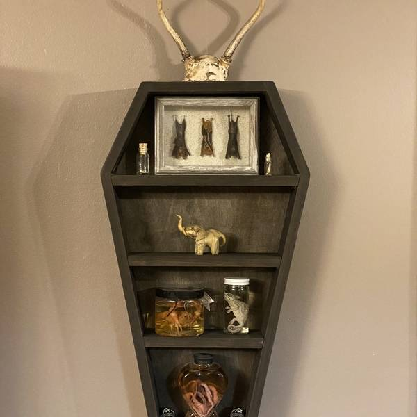 "Photo: Wall hanging ""coffin shelf"""