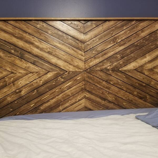 Photo: Industrial/ Farmhouse King Size Headboard