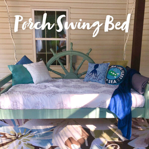 Photo: Porch Swing Bed