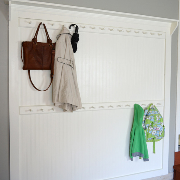 Photo: Beadboard shaker peg coat rack