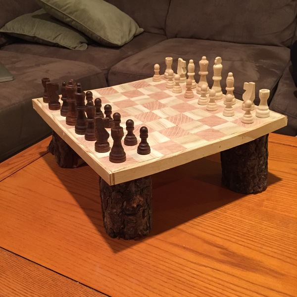 Photo: Maple and Poplar Chess Board!