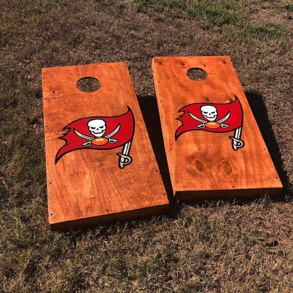 Photo: Hand painted Cornhole boards