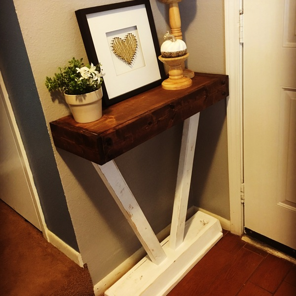 Photo: Small entry table.