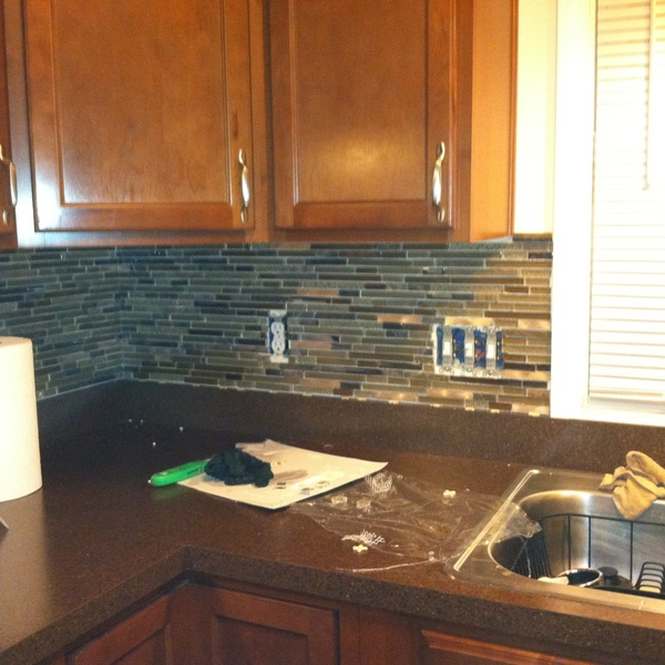 Photo: Cheap Cabinets Look Good With Tile