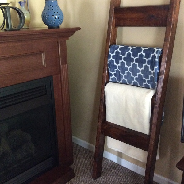 Photo: Farmhouse Blanket Ladder