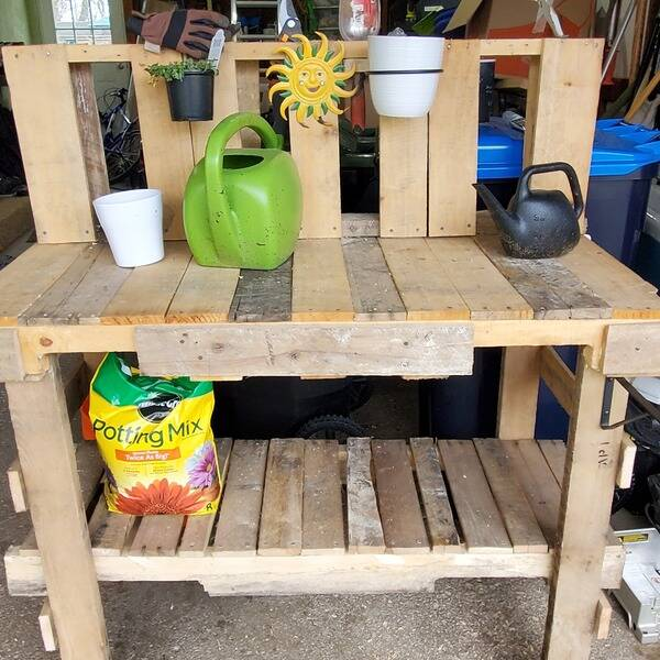 Photo: Potting bench