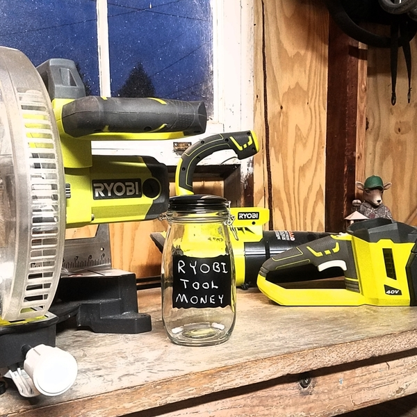 Photo: Empty Ryobi Tool Jars