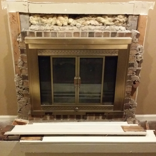 Photo: Fireplace reno
