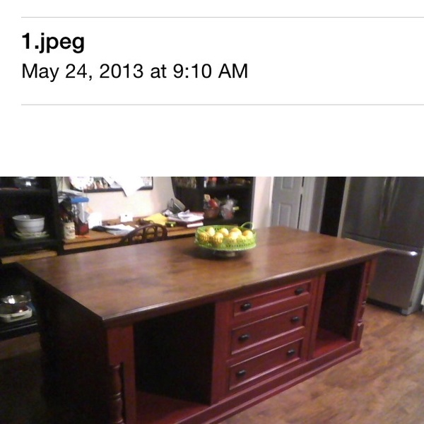 Photo: Kitchen island