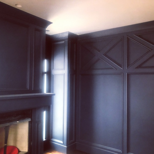 Photo: Wainscoting in office