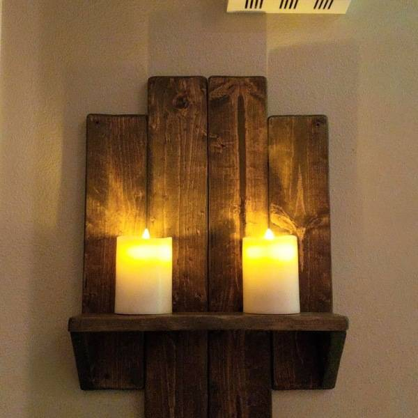 Photo: Scrap Wood Wall Candle Shelf