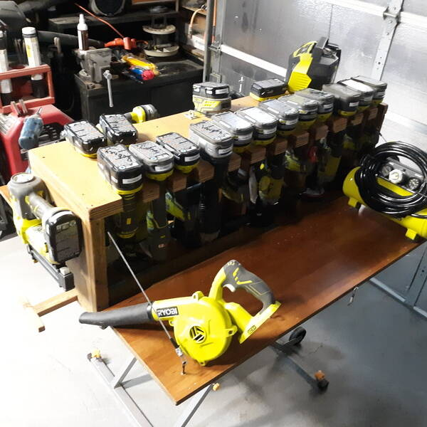 Photo: Portable Ryobi One + Tools storage wworkstation.