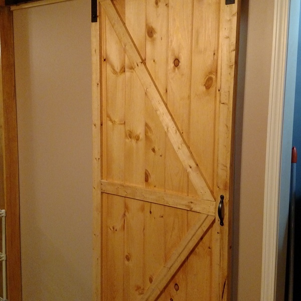 Photo: Sliding barn door