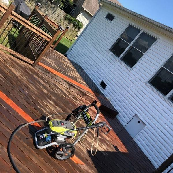Photo: Deck Cleaning Prior to Stain