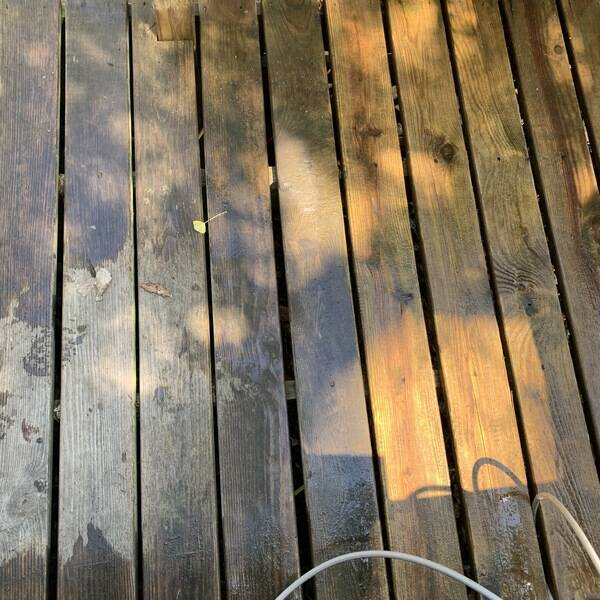 Photo: Clean and stain porch
