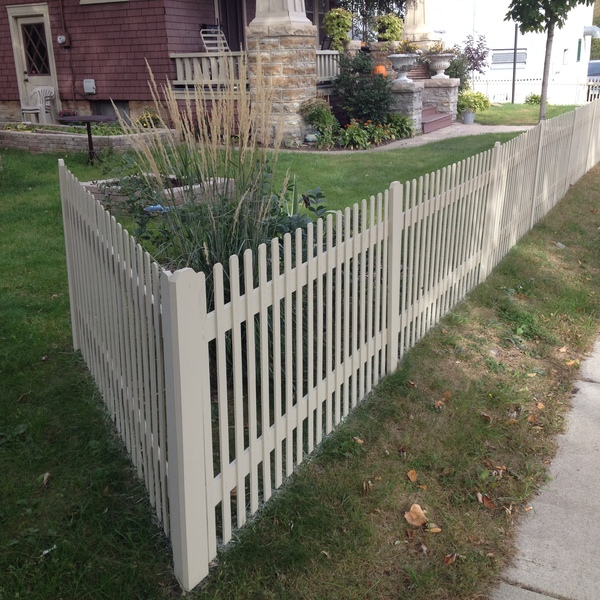 Photo: Very Affordable Picket Fence Option for the budget as well as a super easy fast build and quick install