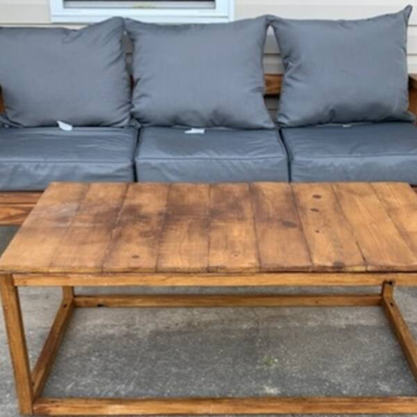 Photo: Patio Sofa with Transforming Table