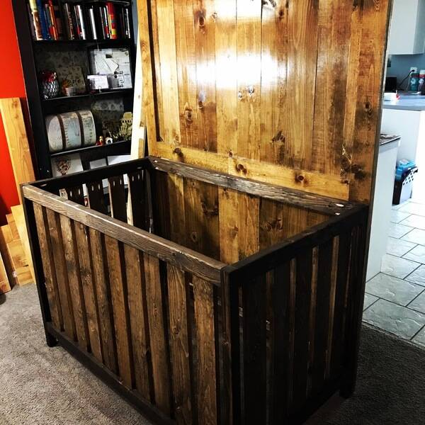 Photo: Barn Door Style Crib