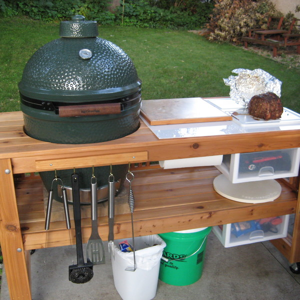 Photo: Big Green Egg Patio Cart