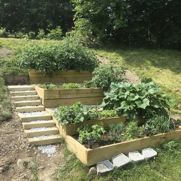 Hill Side Raised Beds And Stairs Ryobi Nation Projects