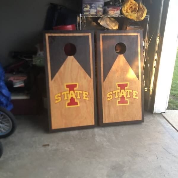 Photo: ISU Corn Hole Boards