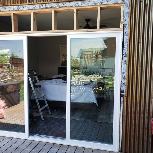 Photo: Install a Sliding Glass Door