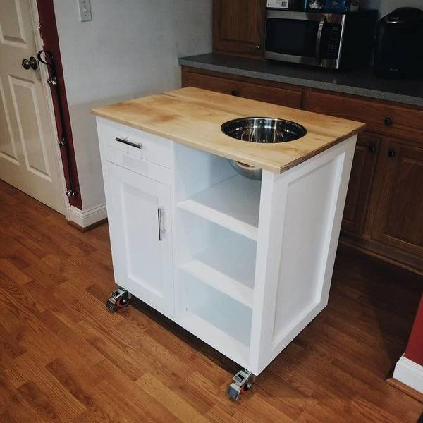 Photo: Custom Mobile Kitchen Island