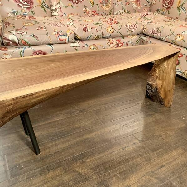 Photo: Live edge waterfall coffee table