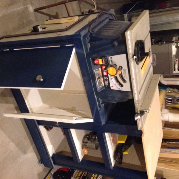 Table Saw Cabinet With Dust Collector Ryobi Nation Projects