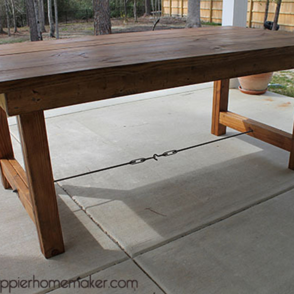 Pottery Barn Inspired Turnbuckle Table Ryobi Nation Projects