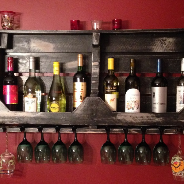 Photo: Hanging wine rack