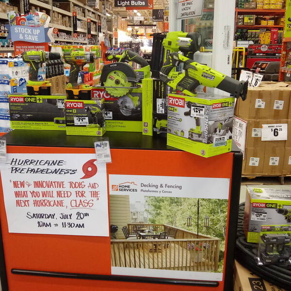 Photo: RYOBI HURRICANE SUPPLIES