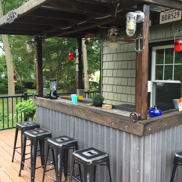 Photo: Back deck bar
