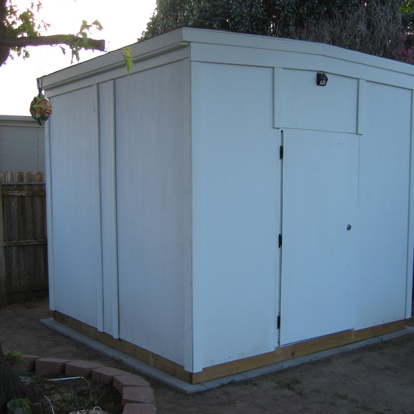 Photo: Backyard Shed 9x9 foot by 8 foot tall