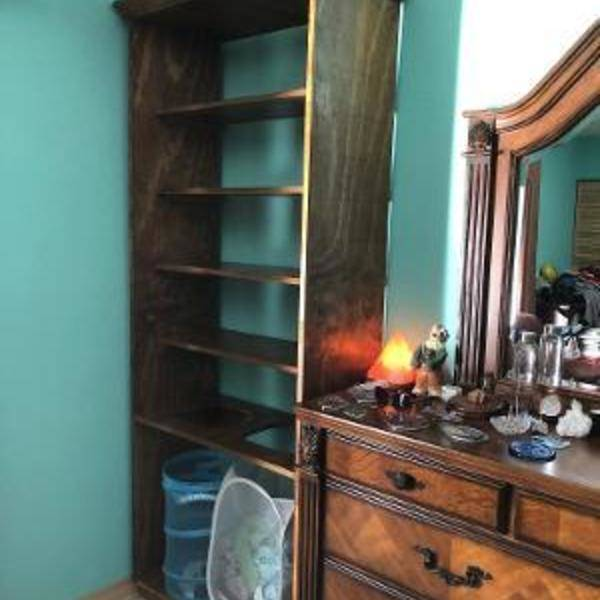 Photo: Hamper cabinet and bookshelves