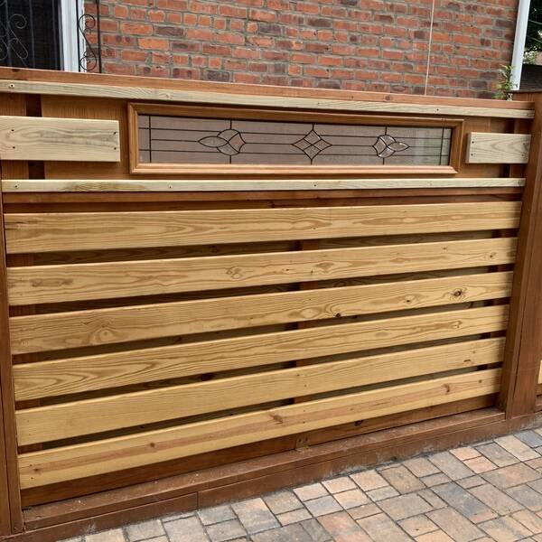 Photo: Jackson DIY lifetime wood fence.