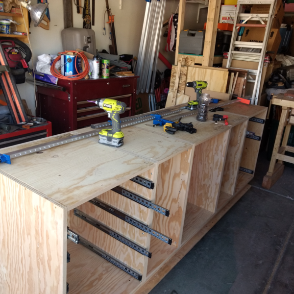 Photo: Deluxe Miter Saw Station