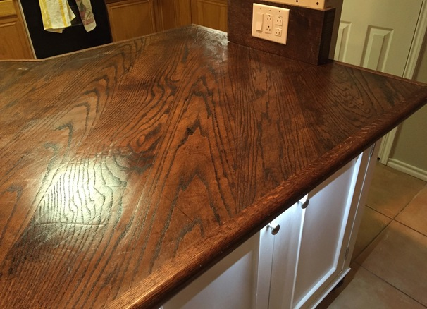 Wood Top Kitchen Island!