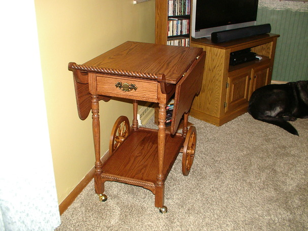 drop leaf tea cart