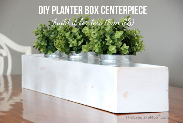 DIY planter box centerpiece