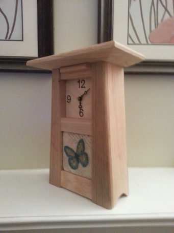 "Solid Oak ""Butterfly Clock"""