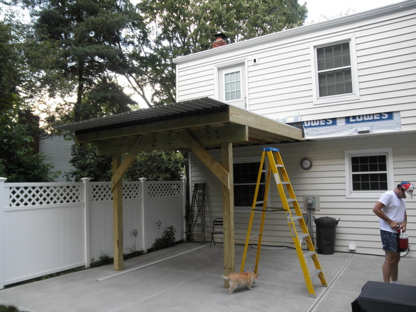 Backyard Deck and Covered Patio