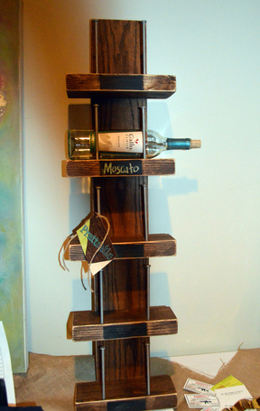 Rustic Chic Wine Rack with Chalkboard Labels