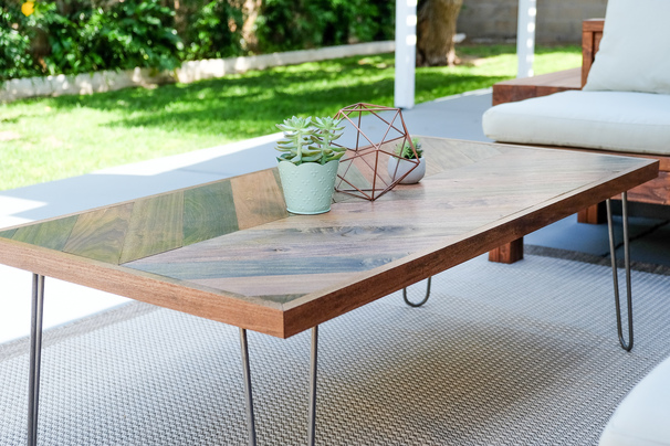 Outdoor Rustic Modern Coffee Table