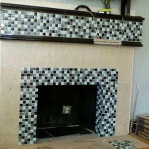 NonWorking Brick to Tile Electric Fireplace
