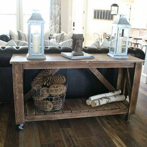 Photo: Console Table on Wheels Project