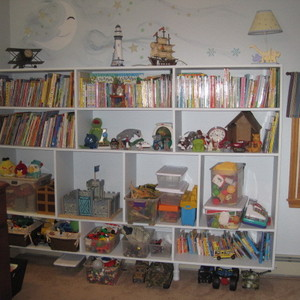 book and toy shelf
