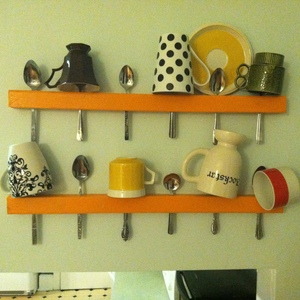Coffee Mug Spoon Wall