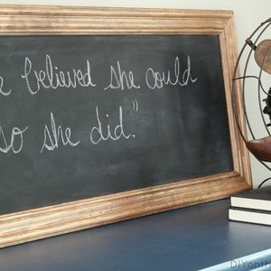 Photo: FRAMED CHALKBOARD Project